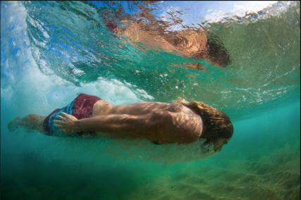Dave Rastovich body surf Italy