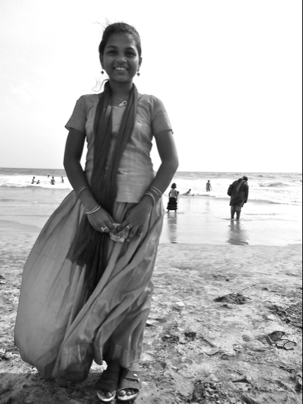 indian girl and the sea
